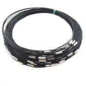 Lalang 10pcs Black Steel Memory Wire Cord Choker for Jewellery Accessories