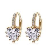 J*myi Korean fashion earrings heart-shaped zircon earrings fashion simple earrings