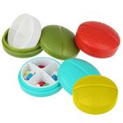 Zhichengbosi 4pcs Multifunction Travel Pill Box Medical Holder Jewellery Organiser