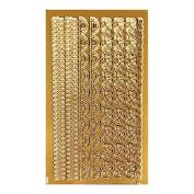 Resin elegant metallic seal S Gold