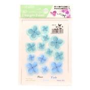 3D Flower Design Film Blue / Green