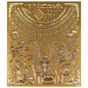 Resin elegant metallic seal M gold