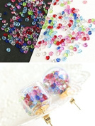 Diamond cut type perforated beads mix colour 50g