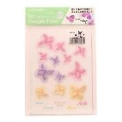 3D Flower Design Film Pink / Purple / Yellow
