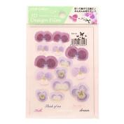 3D Flower Design Film Purple System