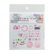 Clear Illustration Sheet Cherry Blossoms