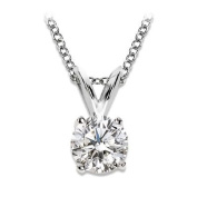 Diamond solitaire pendant necklace 1/4 carat premium quality diamonds