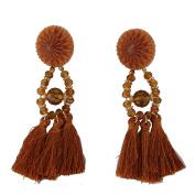 Multiware Vintage Big Bohemian Tassel Earrings Crystal Drop Dangle Earrings for Women