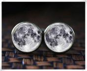 Full Moon cufflinks, Galaxy cufflinks, Lunar cufflinks, Planet cufflinks