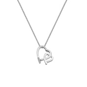 Hot Diamonds Amore Double Heart Pendant on a Chain of Length 45cm