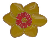 Brooch Boutique Yellow Enamel Daffodil Brooch / March Birthday / St. David's Day / Mothers Day Gift