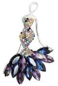 KristLand - Elegant Silver Tone Mermaid Austrian Crystalas Rhinestone Women Corsage Pin Brooch Pin