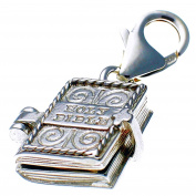 Welded Bliss Sterling 925 Silver Bible Opening to Lord's Prayer Clip On Charm WBC1476