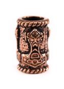 Beard Bead Viking Thor's Hammer, Bronze
