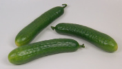 Designer Decorative Two (2) Artificial Faux Fake Small Cucumber Vegetable