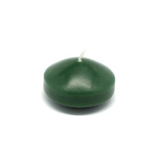 Zest Candle 24-Piece Floating Candles, 4.4cm , Hunter Green