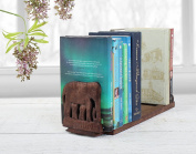 Valentines Day Wooden Book Ends Handcrafted CD Dvd Stand Rack Shelf Decorative Display Pair Bookend for Bookshelf Holder Home Office School Library Desk Tabletop Organiser