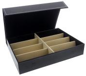 Glasses Display Case - 8 slot Rack Stand Storage Tray for Eyewear (Sunglasses, Eyeglasses, Reading Glasses and more) - Black - 12.6 x 25cm x 6.4cm
