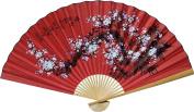 1 X Large 150cm Folding Wall Fan -- Prosperity Blossoms -- Original Hand-painted