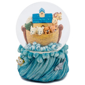 Noah's Ark Animals on Ocean Waves 100MM Music Water Globe Plays Tune Love Makes the World Go Round