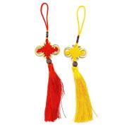 MAISHO Chinese Traditional Handmade Knot Decorative Ornament Hanger for Car Handbag Pendant Jewellery Decoration,10Pcs