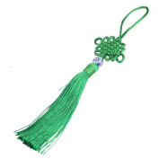 Tiddy 5pcs Handmade Satin Silk Chinese Knots with Soft Tassels for Hanging Decoration