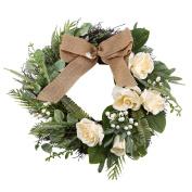 Kissfairy 48cm Flower Door Wreath