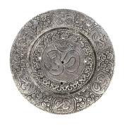 Hosley Round Aluminium Incense Burner/Holder Sticks, 4.50 Diameter.Tibetian Style Aluminium Incense Holder. Ideal Gift for Aromatherapy, Zen, Spa, Vastu, Reiki Chakra, Votive Candle Garden Settings
