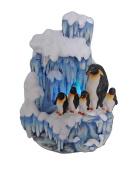 SINTECHNO SNF12076-2 Artistic Sculptural Penguin Family on Iceberg Tabletop Water Fountain