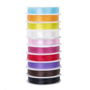 Jooks Crystal Beading Thread Cord Elastic Beading Wire Jewellery Making Beads Mixed Colour DIY Jewellery Accessories 10 Colours