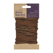 Papermania Bare Basics - Faux Suede Brown Craft Cord Trim - 4 Metres