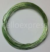 Aluminium Craft Wire - 1mm x 10m (Diameter x Length) - LIME GREEN