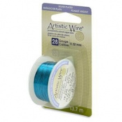 Peacock Blue Colour Artistic Wire 0.32mm Diameter 28ga 13.7m Reel