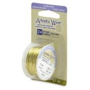 Lemon Colour Artistic Wire 0.51mm Diameter 24ga 9.1m Reel