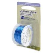 Silver Blue Colour Artistic Wire 0.51mm Diameter 24ga 9.1m Reel
