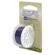 Purple Colour Artistic Wire 0.32mm Diameter 28ga 13.7m Reel