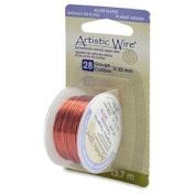 Tangerine Colour Artistic Wire 0.32mm Diameter 28ga 13.7m Reel