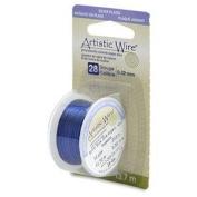 Silver Blue Colour Artistic Wire 0.32mm Diameter 28ga 13.7m Reel