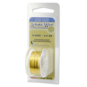 Artistic Wire 28-Gauge Silver Plated Lemon Wire, 15-Yards by Beadalon