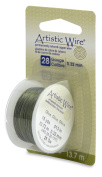 Artistic Wire 28-Gauge Olive Wire, 15-Yards