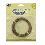 Artistic Wire 12 Gauge Wire, Antique Brass, 7.6m