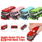 Ecosin Pull Back Double-decker Bus For Kids City Bus Education Toy For Boy
