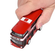 [Pull Back Toy] Bus Collection Model Double-decker Bus Alloy Die Cast City Bus For Kid