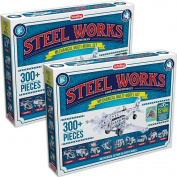 (Set/2) Steel Works Mechanical Multi Model - Construct Working Action Toys