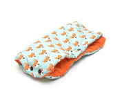 Milutka Hand cover MUFF for stroller FOXES orange WATERPROOF