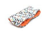 Milutka Hand cover MUFF for stroller TRIANGLES orange WATERPROOF