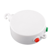 Cido White 12 Melodies Song Baby Kids Mobile Toy Bell Autorotation Music Box Cots Songs