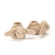 Jelly Cat Bashful Beige Bunny Booties Unisex One Size 10cm (3.9ins) - Suitable From Birth