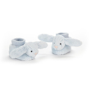 Jelly Cat Bashful Blue Bunny Booties Unisex One Size 10cm (3.9ins) - Suitable From Birth