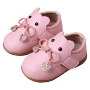 WYXlink Newborn Infant Baby Girls Cute Cartoon Leather Single Shoes Casual Flats Shoes